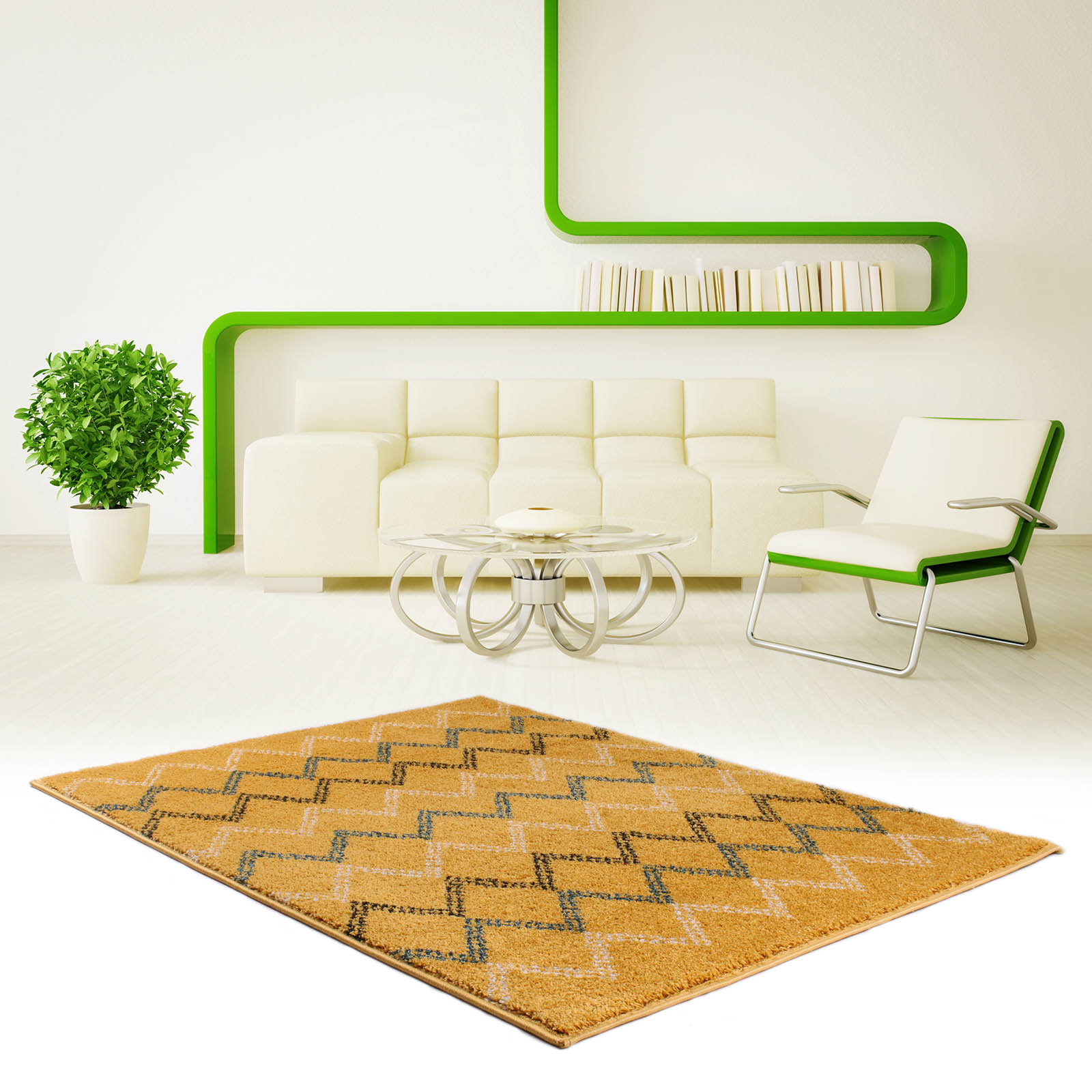 Marrakesh Rugs 2651 in Yellow and Black